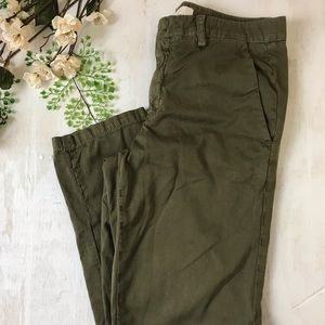 VINCE Olive Casual Cotton Pant Size 27